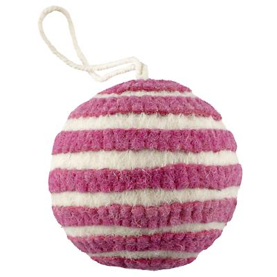 Bright Stripes Ornament (Pink)