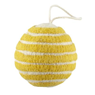 Bright Stripes Ornament (Yellow)