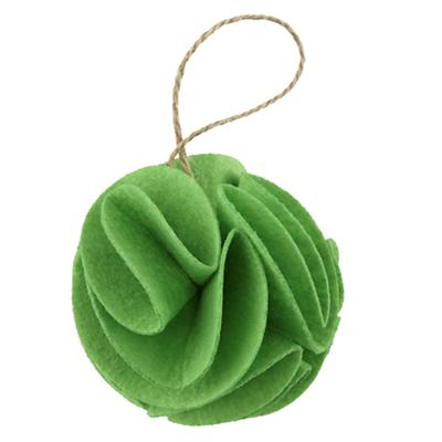 Green Frilled Felt Ornament