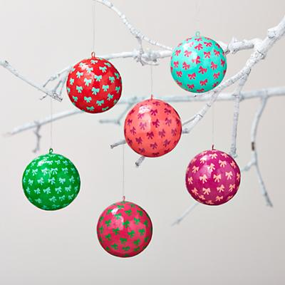 Hello Bow Ornaments (Set of 6)
