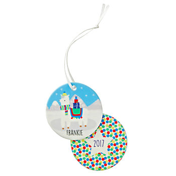 You Name It Jillian Phillips Personalized Llama Ornament