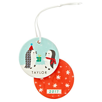 You Name It Sarah Walsh Personalized Penguins Ornament