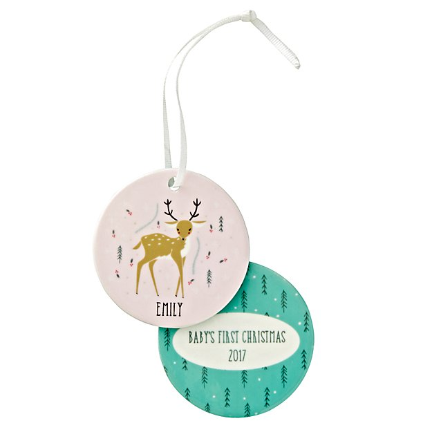 You Name It Gingiber Personalized Deer Ornament