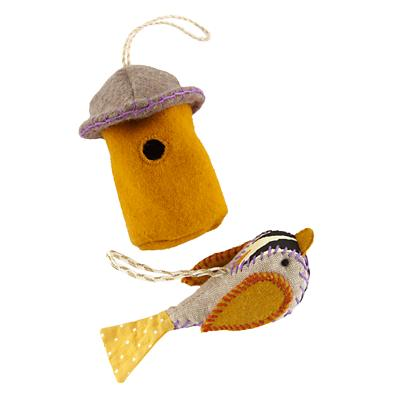 Orange Tweet Life Ornaments (Set of 2)