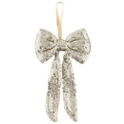 Gold Sequins Bow Ornament