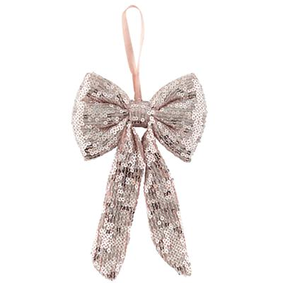 Pink Sequins Bow Ornament
