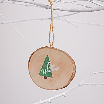 Wood Slice Ornament