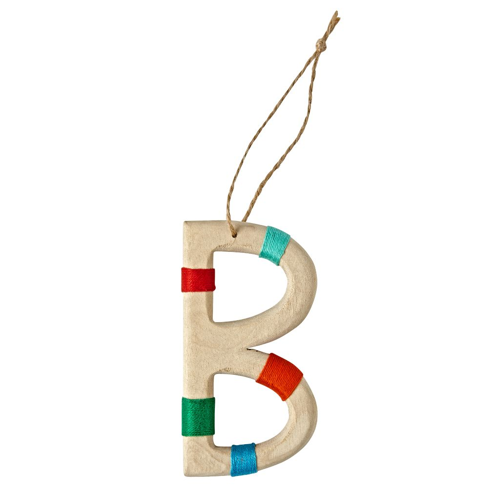 Wooden Letter B Ornament