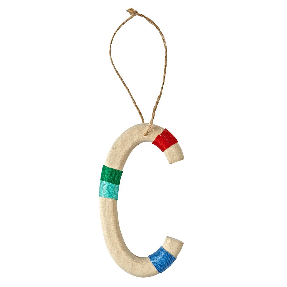 Wooden Letter C Ornament