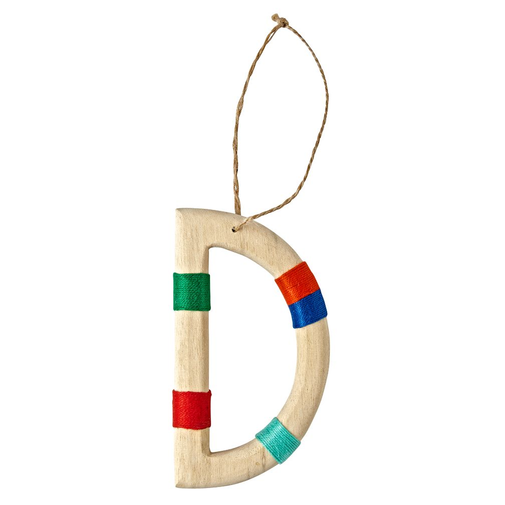 Wooden Letter D Ornament