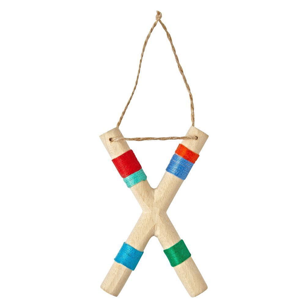 Wooden Letter X Ornament