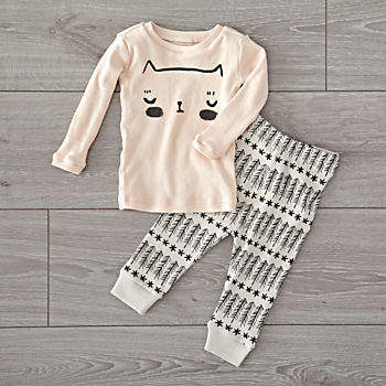 Organic Pink Cat 2T Pajama Set
