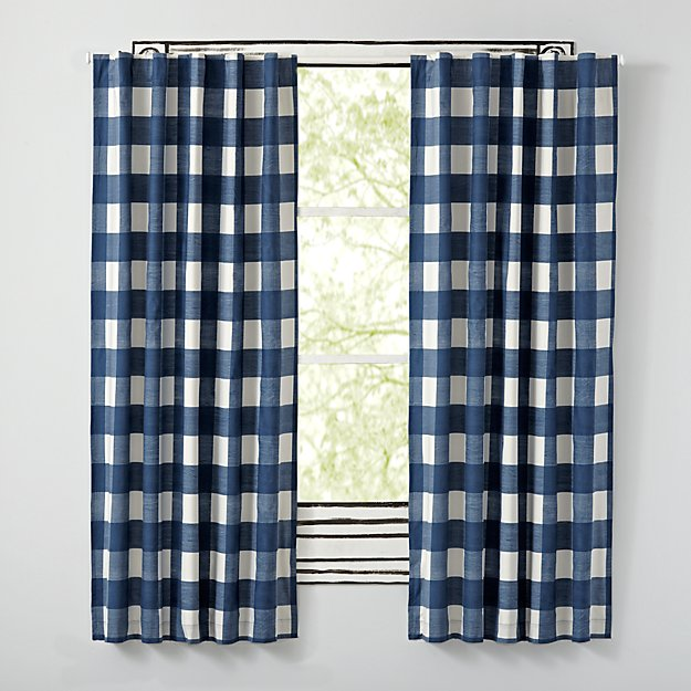 "Buffalo Check Blue 84"" Blackout Curtain"