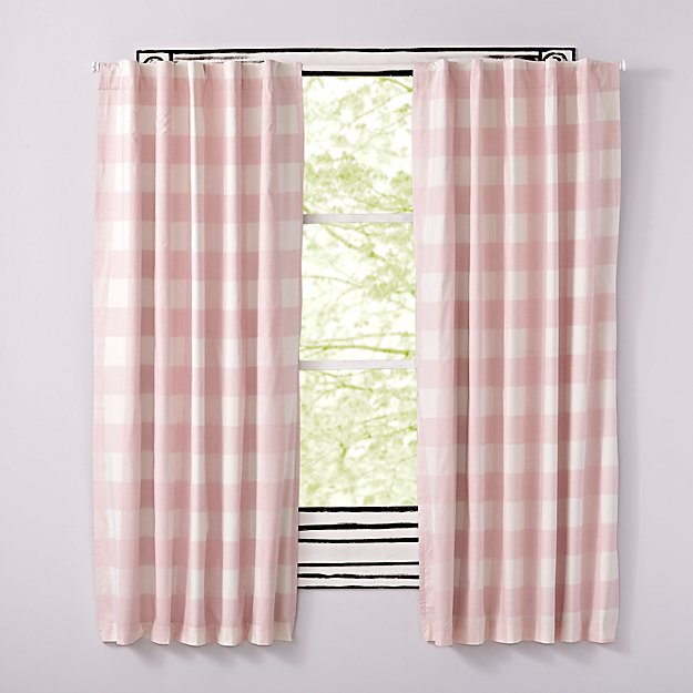 "Buffalo Check Pink 63"" Blackout Curtain"