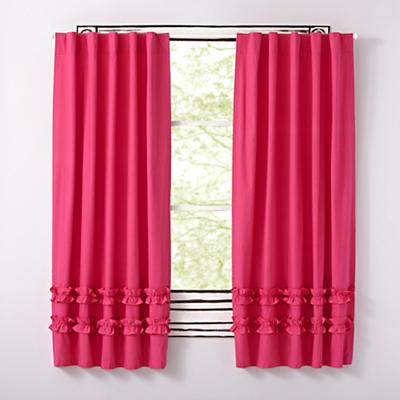 Ruffle Pink Curtains