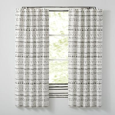 Wild Excursion Grey Curtains