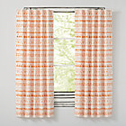 "Wild Excursion Orange 63"" Curtain(Sold Individually)"