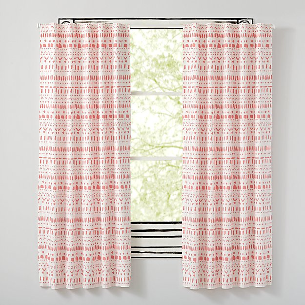 "Organic Wild Excursion Pink 84"" Curtain"