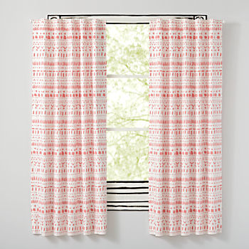 "Organic Wild Excursion Pink 63"" Curtain"
