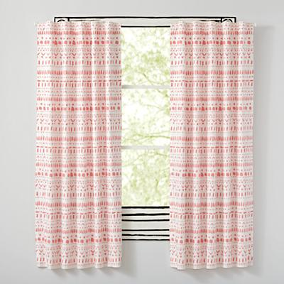 "Wild Excursion Pink 96"" Curtain"