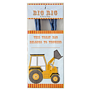 Construction Party Bags (Set of 8)