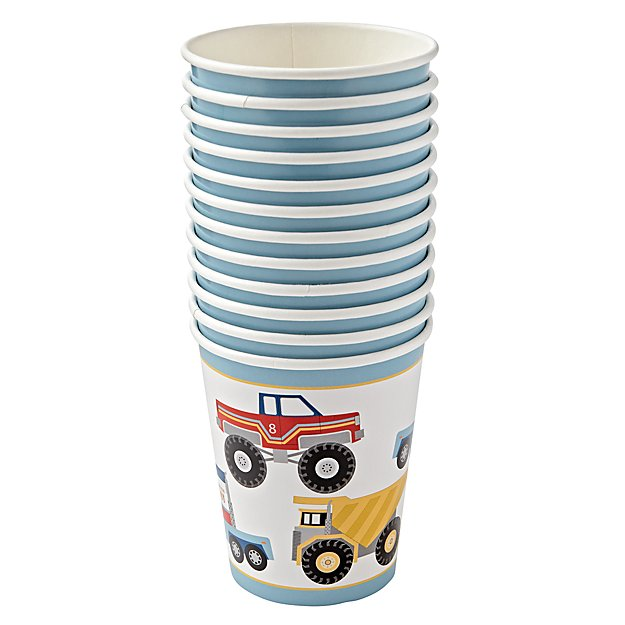 Construction Party Cups (Set of 12)