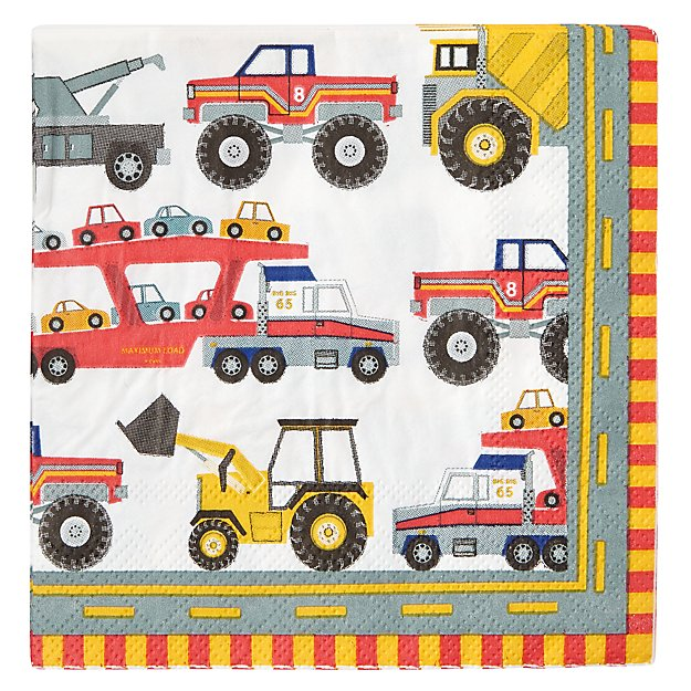 Construction Small Napkins (Set of 20)