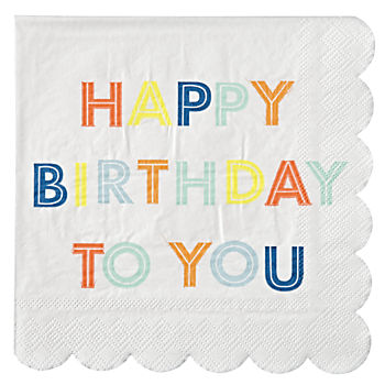 Bright Birthday Napkins (Set of 20)