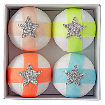 Bright Stripe Surprise Balls (Set of 4)
