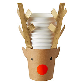Reindeer Party Cups (Set of 8)
