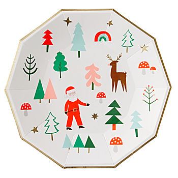 Christmas Large Plates (Set of 8)