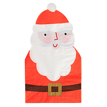 Santa Die-Cut Napkins (Set of 16)