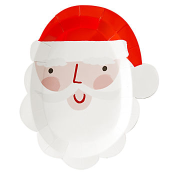 Santa Die-Cut Plates (Set of 12)