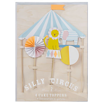 Silly Circus Cake Toppers (Set of 4)