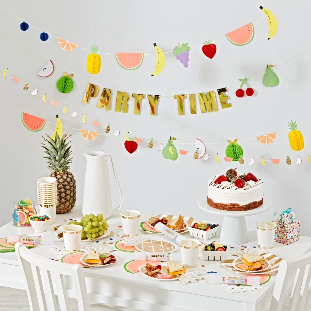 Kids party decorations the land of nod for 1 year birthday decoration