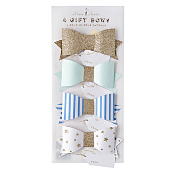 Blue Bow Gift Tags (Set of 4)