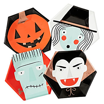 Halloween Character Plates (Set of 8)
