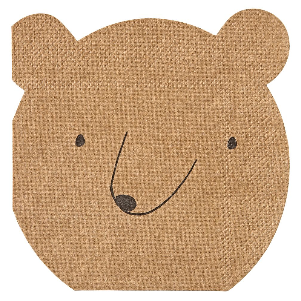 Let's Explore Bear Napkins (Set of 20)