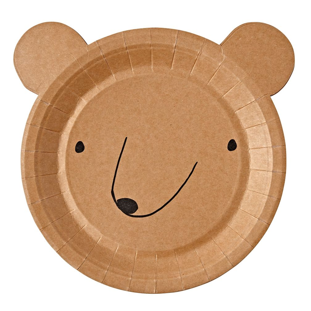 Let's Explore Bear Plates (Set of 12)