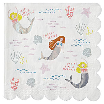 Let's Be Mermaids Large Napkins (Set of 16)