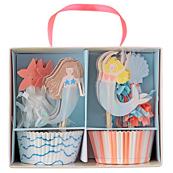 Let's Be Mermaids Cupcake Kit (Set of 24)