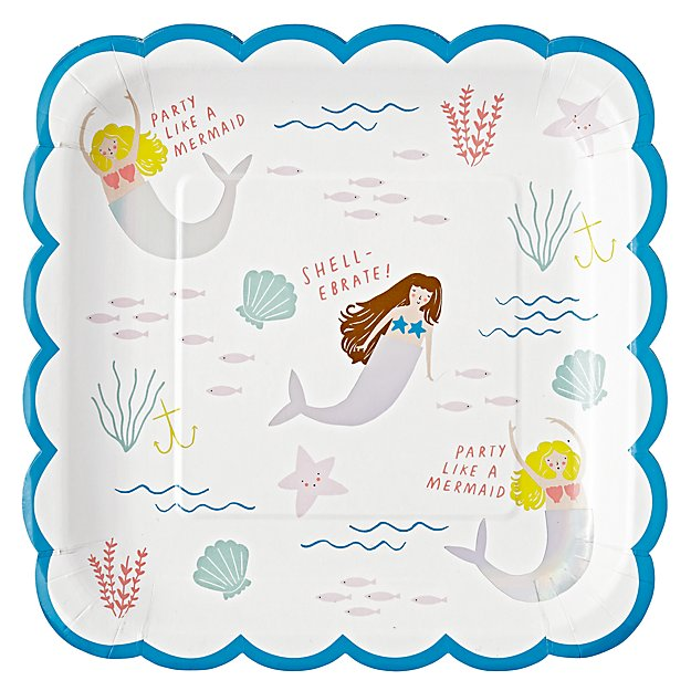 Let's Be Mermaids Large Plates (Set of 8)