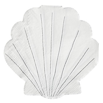 Let's Be Mermaids Shell Napkins (Set of 16)