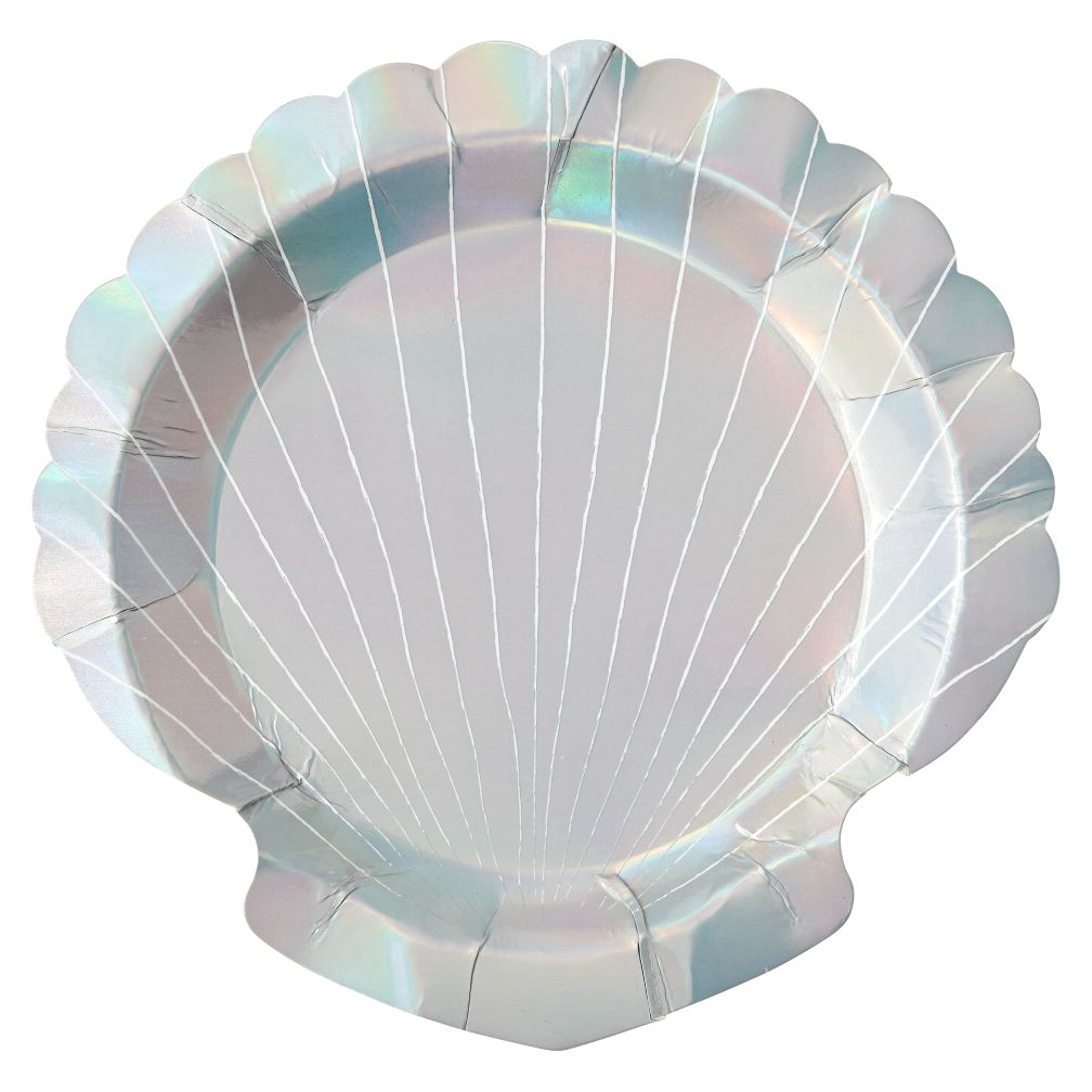 Let's Be Mermaids Shell Plates (Set of 8)
