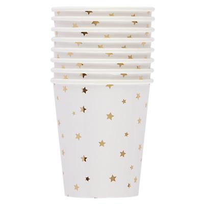 Toot Sweet Gold Star Party Cups (Set of 8)