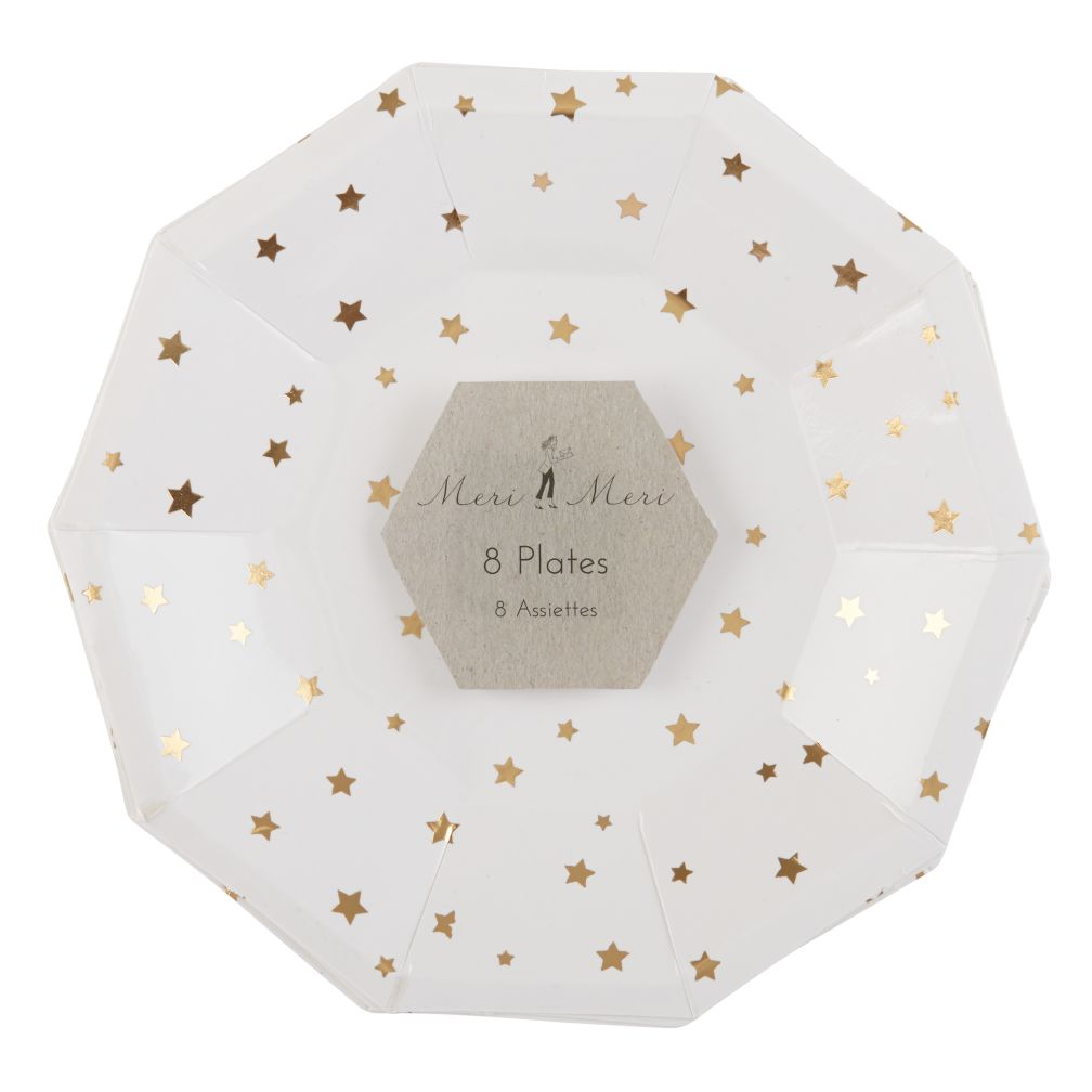 Toot Sweet Gold Star Party Plates (Small)