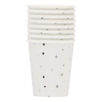 Toot Sweet Silver Star Party Cups (Set of 8)