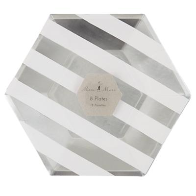 Toot Sweet Silver Stripe Plates (Large)