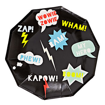 Superhero Large Plates (Set of 8)