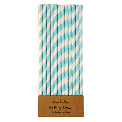 Toot Sweet Party Straws (Blue Stripe)